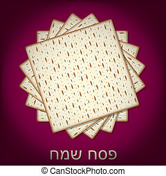 Passover - Happy Passover card in vector format