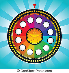 Colorful Wheel of Fortune - Vector illustration of colorful...