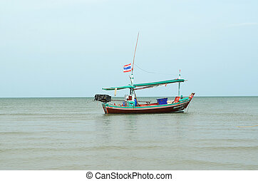 Fishing trawler on the water, Thailand