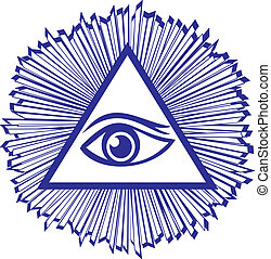 Eye Of Providence or All Seeing Eye Of God - famous mason...