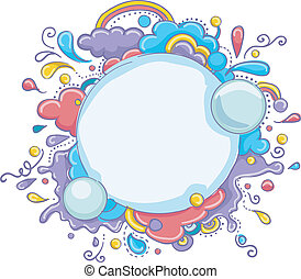 Abstract Frame - Illustration of an Abstract Frame with a...