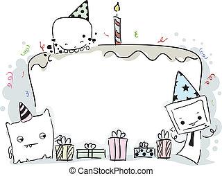 Monster Birthday Frame