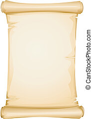 Blank Scroll - Illustration Featuring a Yellowish Blank...