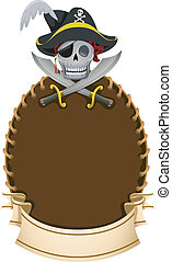 Pirate Frame - Frame Illustration Featuring a Pirate's Skull...