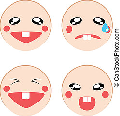 Vector set of emotion icon