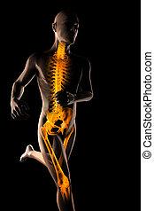 running man radiography