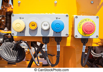 Emergency button on control panel