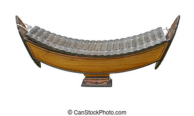Thai wooden xylophone classical music instrument