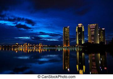 PUTRAJAYA - this is the view of Putrajaya building in blue...
