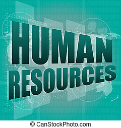 human resources digital touch screen interface