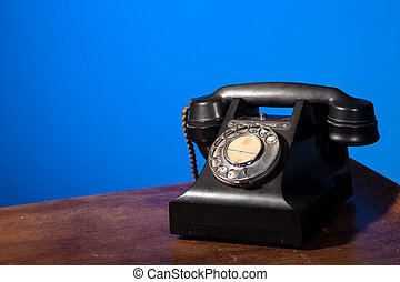 GPO 332 vintage telephone on blue - Vintage UK General Post...
