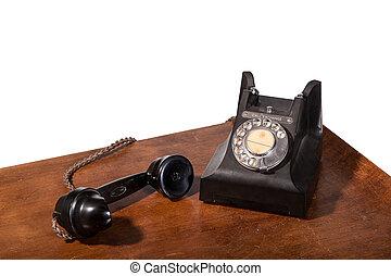 GPO 332 vintage telephone - isolated on white - Vintage UK...