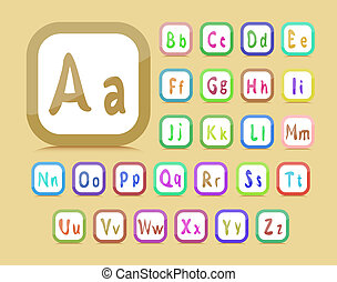 editable English alphabet