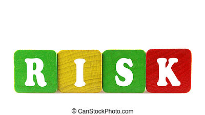 isolated text in wooden building blocks