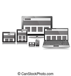 Responsive Layout Display Set graphic vector eps10
