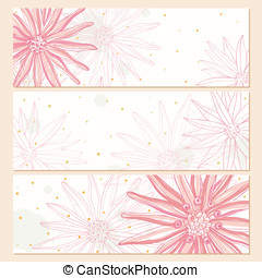 Flower horizontal banners
