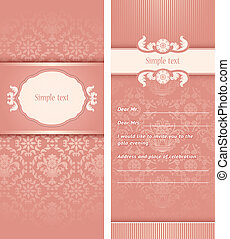 Invitation template - Perfect as invitation or announcement....