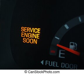 Service soon - Check engine light on in SUV