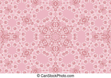 Roses pattern  - Pink pattern with natural flowers of rose