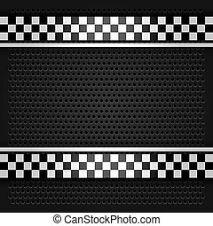 Metallic perforated sheet gray, vector illustration 10eps