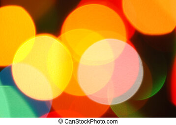 Abstract background of holiday lights