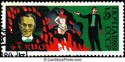 CIRCA 1989: stamp printed in USSR, dedicated to the circus,...