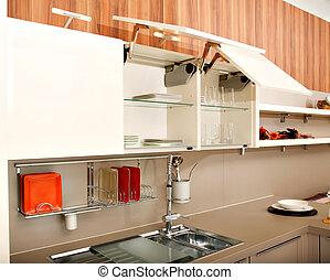 Beautiful kitchen - Modern kitchen design containing a sink,...