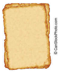 Old paper background - Isolated illustration of a sepia tone...