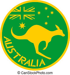 Button kangaroo - Creative design of button kangaroo