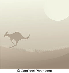 Cover kangaroo - Creative design of cover kangaroo