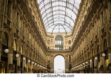 The Galleria Vittorio Emanuele II is the oldest shopping...