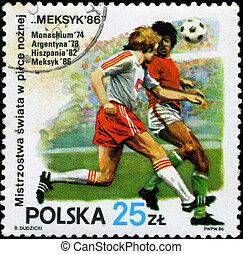 POLAND - CIRCA 1986: 1986 World Cup Soccer Championships, Mexico, circa 1986.
