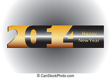 2014 background - 2014 Happy New Year greeting card or...