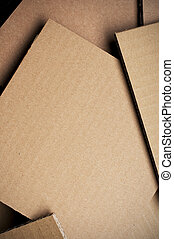 Corrugated Cardboard Sheet Background - Many corrugated...