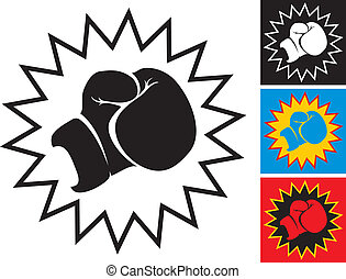 Punch in boxing glove - Illustration punch in boxing glove
