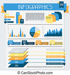 Infographics elements collection. Set 4.
