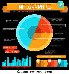 Infographics elements collection. Set 2.