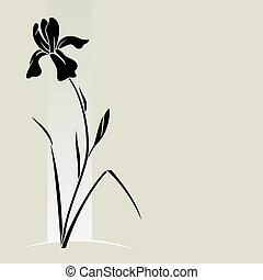 Vector iris flower. - Vector illustration with iris for...