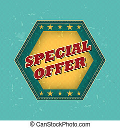 special offer - retro label - special offer - retro style...