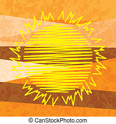 Sun abstract background - Sun summer abstract background
