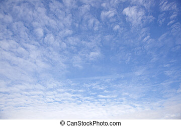 blue sky and white fluffy clouds - blue sky and pattern of...