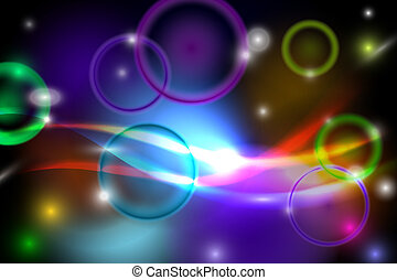 Abstract colorful background with lights Vector Illustration...