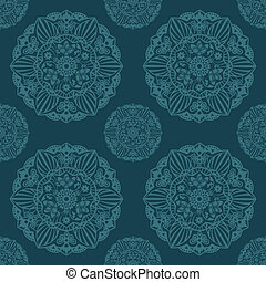 Ornate Mandala seamless texture endless pattern Vector...