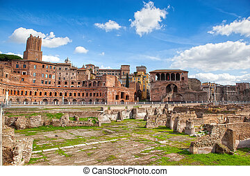 Ruins of Roman Forum in Rome