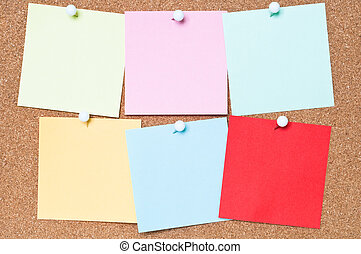 Colourful Adhesive Notes - Selection of blank adhesive notes...