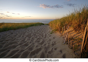 Sunset at a Cape Cod Beach - The warm glow of day\\\'s end...