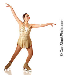 Figure Skater - Young adult figure skater Studio shot over...