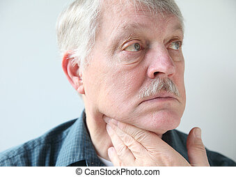 neck pain in senior man