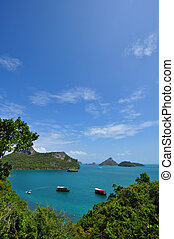 The emerald Inner Sea, Angthong Marine National Park, samui...
