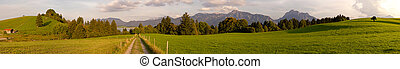 Panorama of bavarian Landscape